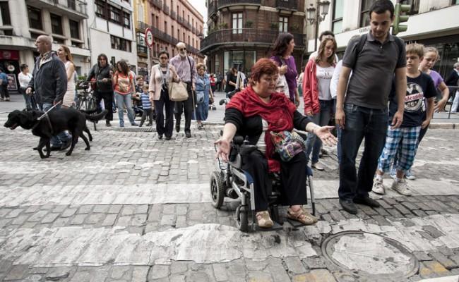 Protesta por la accesibilidad universal