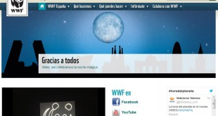 Captura de la web de WWF
