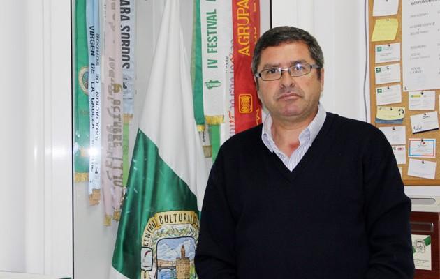 Antonio Sánchez, presidente del Centro Cultural de Personas Sordas «Torre del Oro»