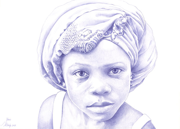 La exposición «África a bolígrafo» del sevillano Javier Jiménez Sánchez-Dalp