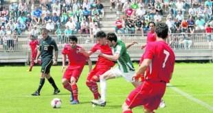 Jugadores del Sevilla C en un reciente partido contra el Córdoba B / RAFAEL CARMONA
