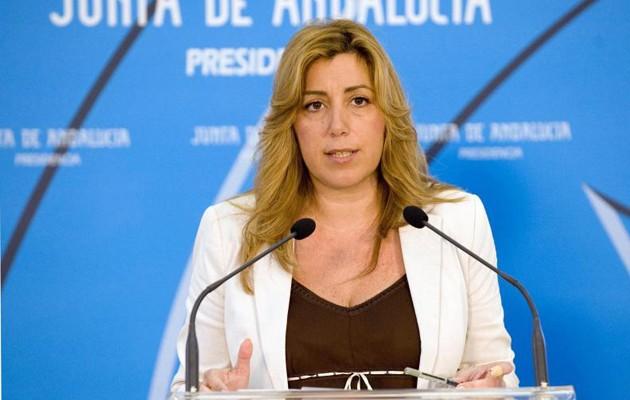 Susana Díaz en la rueda de prensa de este lunes EFE/Antonio Prado