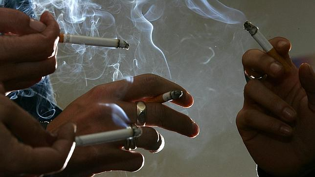 Grupo de fumadores
