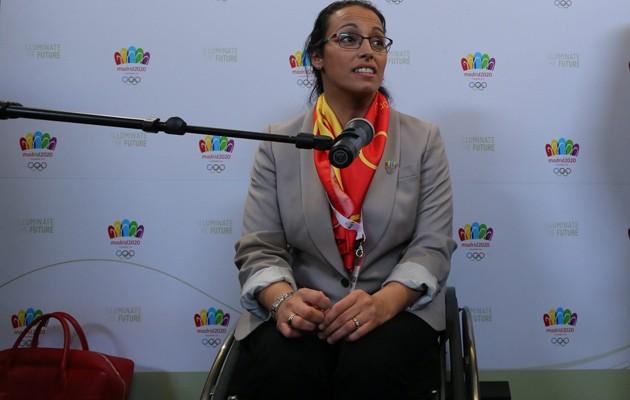 La nadadora paralímpica Teresa Perales ha participado en la jornada