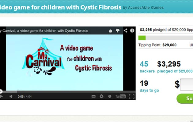 Captura de la web de la campaña de 'crowdfunding'
