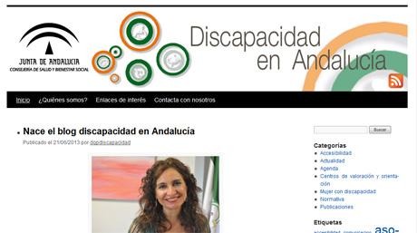 Captura del blog Discapacidad en Andalucía