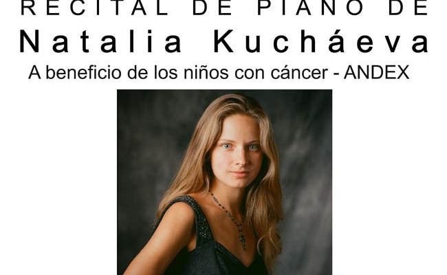 Recital de piano a beneficio de ANDEX