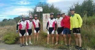 Siete ciclistas en su octava etapa del Camino de Vida/ Alusvi