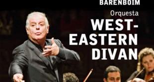Cartel de la gira de conciertos de la orquesta West-Eastern Divan
