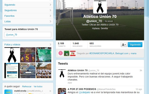 Twitter del Atlético Unión 70