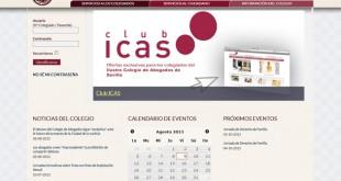 Captura del portal del Colegio de Abogados de Sevilla