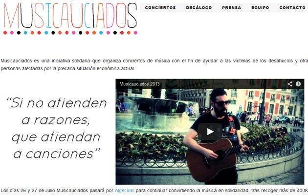 Captura del portal de Musicauciados