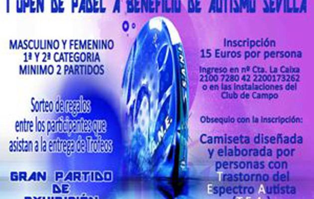Cartel I Torneo Open Solidario de Pádel