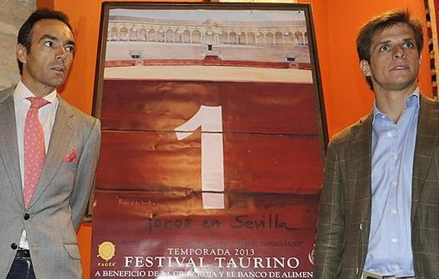 El Cid y El Juli, durante la presentación del cartel en la Maestranza / Jesús Spínola