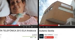 Los vídeos sobre ELA Andalucía, Autismo Sevilla y el resto de los retos pueden verse en Youtube