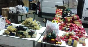 Alimentos recopilados en la recogida de La Campana / Llamarada de Fuego