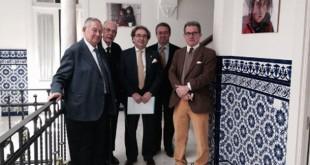 Momento de la visita de la Macarena en la sede de la fundación / Gota de Leche