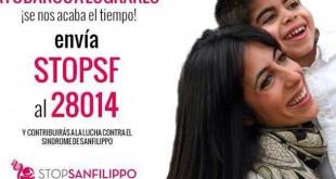 Ángeles y Borja en uno de los carteles de la fundación Stop San Filippo