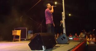 Haze, uno de los artistas participantes, en otro festival benéfico en el Aljarafe