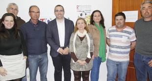 Visita del alcalde palaciego a la sede de VOSPA
