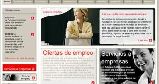 Web de la Fundación Adecco