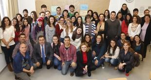 Voluntarios de la UPO y personal de de la Oficina de Voluntariado y Solidaridad de la Olavide / Foto: UPO