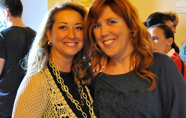 Las diseñadora Asen Aranda y Mari Paz Parrilla