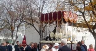 El paso de palio en la procesión de San Pelayo en 2012
