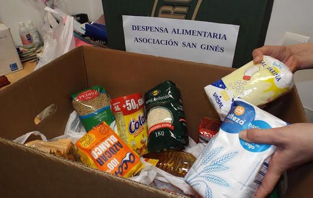 Recogida de alimentos en la Biblioteca Pública Municipal de Gines
