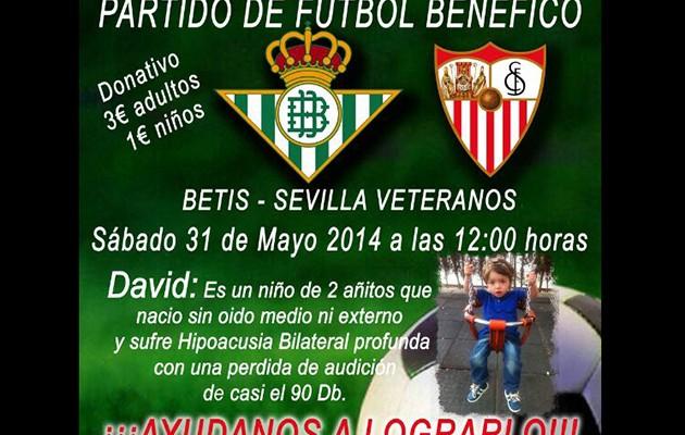 Partido benéfico entre veteranos del Real Betis y el Sevilla FC