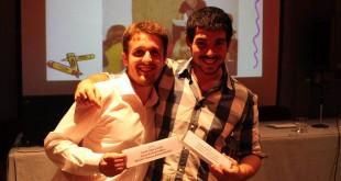 Los ganadores Miguel Ángel Moreno Luna y Nicolás López González / Foto: UPO