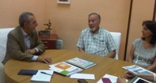 Reunión de Juan Manuel Flores con los representantes de ELA / Foto: PSOE