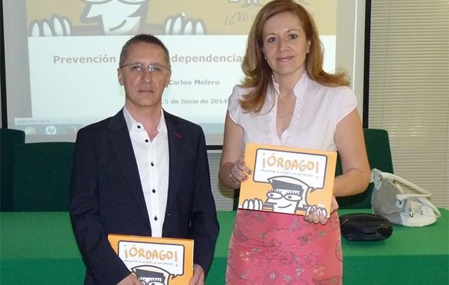 La diputada provincial Lidia Ferrera junto a Juan Carlos Melero, responsable de la Fundación Edex / Diputación de Sevilla