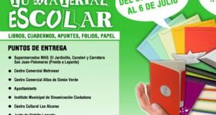 Campaña de donación de material escolar en Mairena del Aljarafe