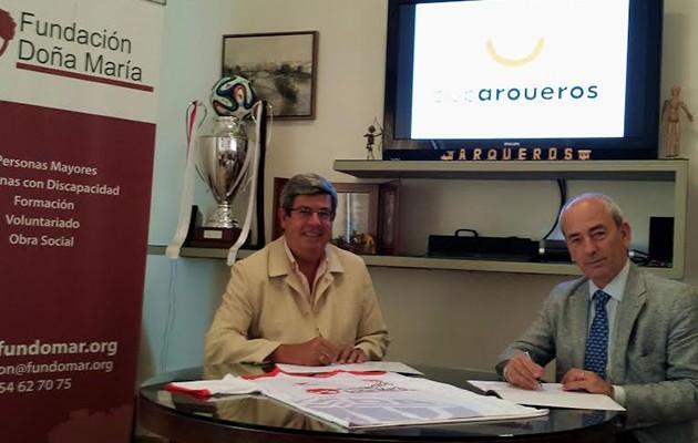 José Antonio Vázquez, presidente de la Fundación Doña María, y Javier Ganuza,  presidente de la junta directiva del Club Arqueros Sevilla