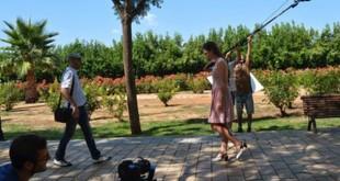 Grabación de un corto sobre el alzheimer en La Rinconada