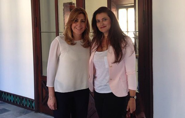 La presidenta de la Junta de Andalucía, Susana Díaz, y la presidenta de la Fundación Clínica Rocío Vázquez, la doctora Rocío Vázquez