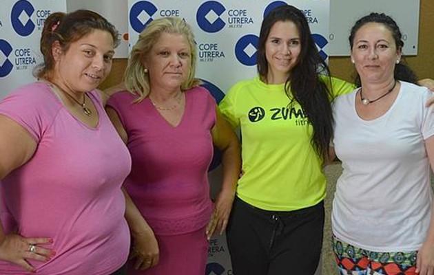 Chari Valero junto a otras componentes de la asociación / A.F.