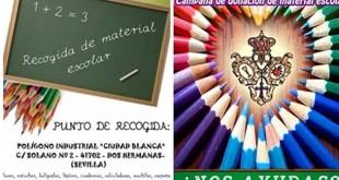 Carteles de las campañas de recogida de material escolar