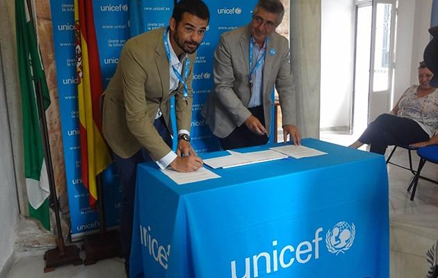 Enrique Sánchez, cuando fue nombrado Amigo de Unicef en Andalucía / Foto: Unicef