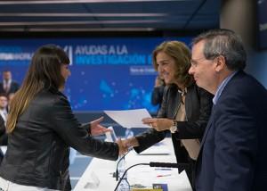 Sonia Molina recibe la ayuda en la Torre de Cristal de Madrid