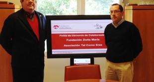 José Antonio Vázquez, presidente de la Fundación Doña María, y Carlos Martínez, presidente de la Asociación Tal Como Eres / Fundomar