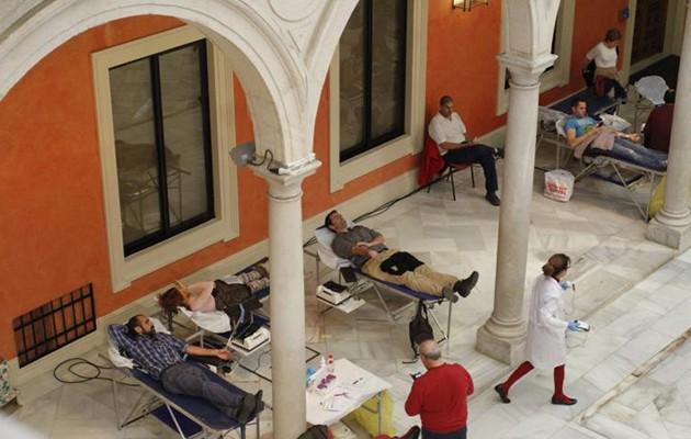 Donación de sangre en la Fundación Cajasol / Foto: Vanessa Gómez