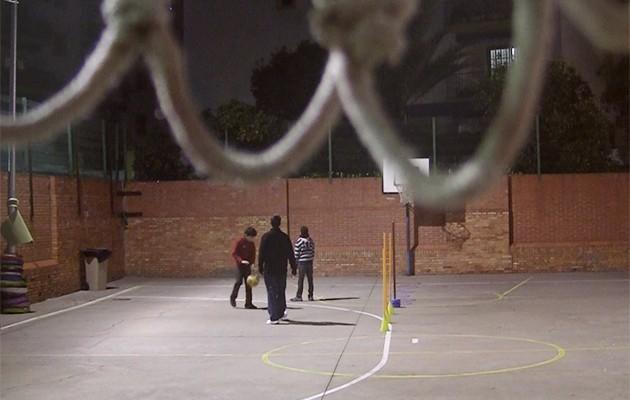 Los jugadores entrenan en el colegio Sor Ángela de la Cruz / Rafa Sánchez