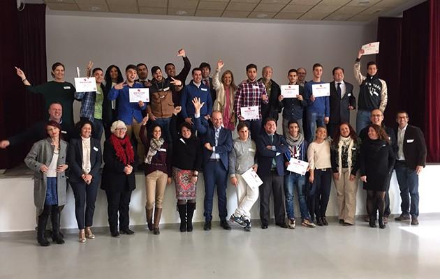 Los participantes del proyecto posan en la última sesión. / Foto: Fundación Exit