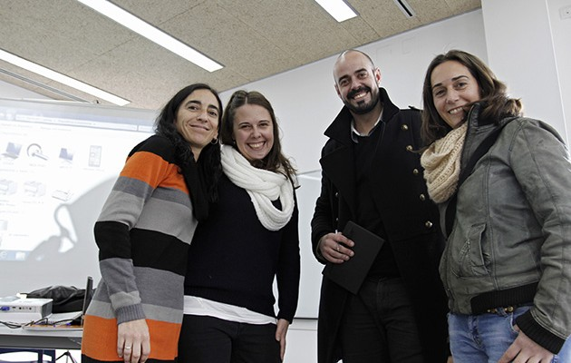Ignacio López, junto a su equipo / Vanessa Gómez