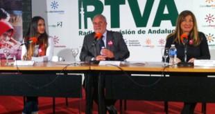 India Martínez, Joaquín Durán, de Canal Sur, y Concha López, dePlan Internacional