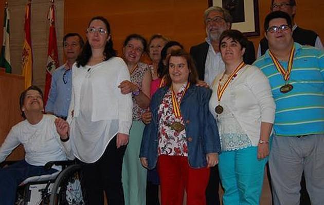 El equipo de gimnasia rítmica y de natación de ANIDI / L.M.