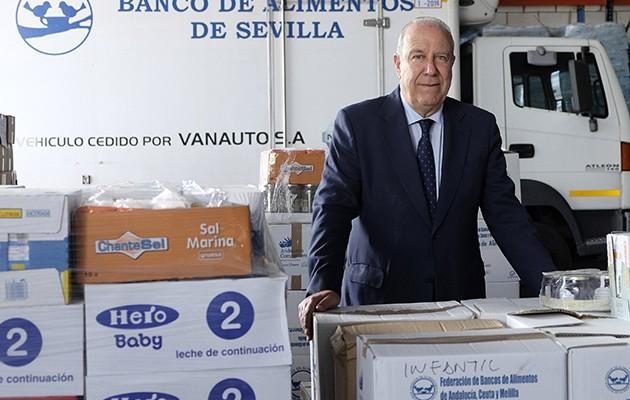 Juan Pedro Álvarez, presidente del Banco de Alimentos de Sevilla