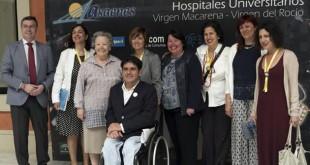 María Galiana y representantes del Hospital Virgen del Rocío, Virgen Macarena, Asaenes y AVA presentan el II Festival de cine sobre Salud Mental / Juan Flores